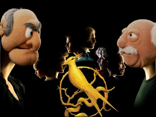 Statler and Waldorf hunger games photoshop
